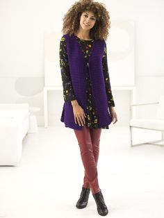 Simply Sleek Vest (Crochet)