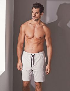 Supima® Cotton Slim Fit Slub Sweat Pyjama Shorts | M&S