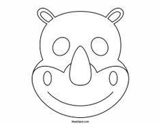 Printable Rhino Mask to Color