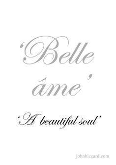 ♔ 'A beautiful soul'