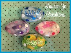 A personal favorite from my Etsy shop https://www.etsy.com/listing/269395913/jumbo-easter-egg-personalized-with-plush