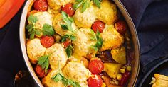 Vegetarian or not, the crew will go wild for this delicious vegetable casserole and dumpling combo!