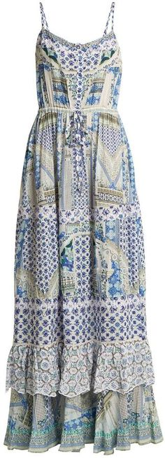 CAMILLA Salvador Summer tiered maxi dress