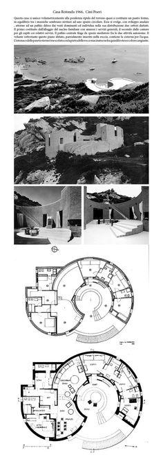 Cini Poeri, Casa Rotonda, in Punta Cannone, La Maddalena, Sassari, Italy, 1966