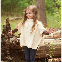 Snow Day Poncho Knit Pattern - Herrschners                                                                                                                                                                                 More