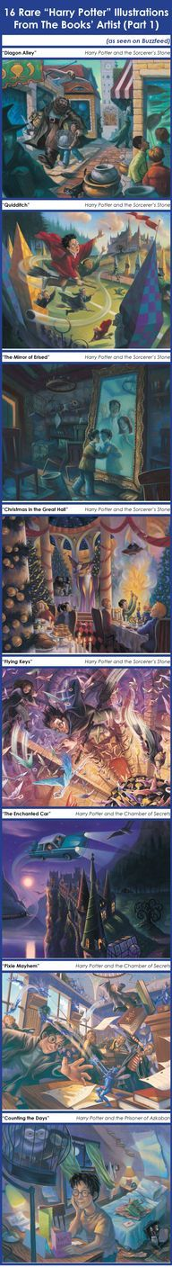 16 Rare Harry Potter Illustrations part 1