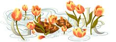 Google doodle for Koninginnedag, or Queen's Day, in the Netherlands on April 30. Featuring, what else, orange tulips.