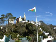 Portmeirion, North Wales, the setting for the 1960s TV series The Prisoner.