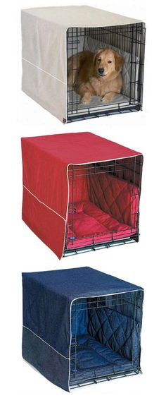 Classic Cratewear is a key piece to providing true comfort and protection for your pet, from numerous crate related injuries. Crate Covers and bedding turn your metal dog crate into a comfortable bedr I Love Dogs, Cute Dogs, Dog Enclosures, Animals And Pets, Cute Animals, Animal Projects, Pet Beds, Dog Houses, Dog Accessories