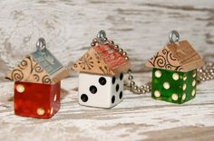 dice upcycle | ... watch crystal pendants and all kinds of altered upcycled jewelry