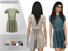 The Sims 4 ALLAI DRESS by annabluu