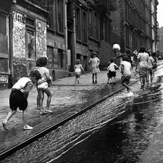 Children playing on 103rd street in Spanish Harlem, New York City in 1947. (Ralph Morse—The LIFE Picture Collection//Getty Images) #Summer #NYC #Harlem