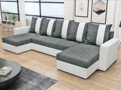 Rohová sedačka PRAGA U, šedá látka/bílá ekokůže Rohová sedačka PRAGA U Obrázky rozložené sedačky jsou ilustrativní (jiná barva)! Zadní část sedačky je potažená látkou, je tedy možné postavit sedačku kdekoliv v prostoru. Potahová látka: kornet … Outdoor Sectional, Sectional Sofa, Sofas, Outdoor Furniture, Outdoor Decor, Modern, Home Decor, Elegant, Prague