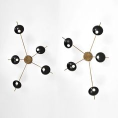 655 – Stilnovo five-arm sconces or ceiling lights, $20,740. PBMA image