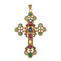 Diego Percossi Papi Sapphire and Cross Earrings Diego 3358