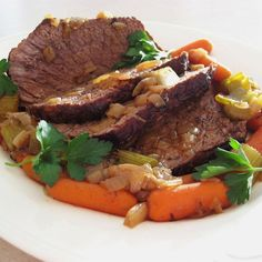 "Beef Pot Roast | ""This is the best and easiest recipe for pot roast I have ever tried. It is best to make it a day ahead. Serve with oven roasted vegetables, potatoes, carrots, onions, or your favorite side dish."""