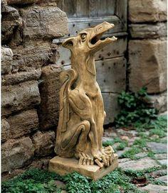 Dragon Garden Statues as Rain Spouts