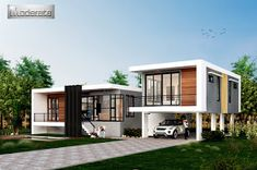 MyHousePlanShop: Single Story Three Bedroom House Plan Designed To Be Built In 233 Square Meters My House Plans, Modern House Plans, Small House Plans, Single Storey House Plans, Three Bedroom House Plan, Architectural House Plans, Home Design Plans, Home Pictures, Image House