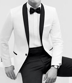 Black & White Tuxedo: Thank you Michael Bublé for wearing a tux like this at the Vancouver '10 Olympics, so I knew exactly what I wanted to wear for our wedding