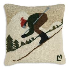 "Downhill Skier 18"" Pillow"