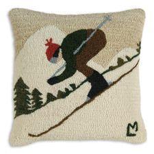 "Downhill Skier 18"" Pillow"