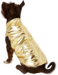 Fab Dog Metallic Puffer Dog Jacket e39de5a5e830
