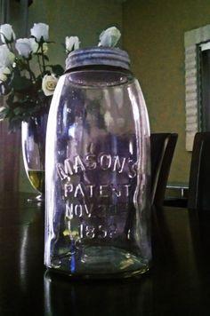 Mason jar patent November 30th, 1858