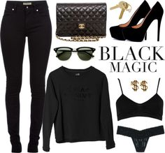 """She's a black magic woman. ♡"" by c0ffee-kid ❤ liked on Polyvore"