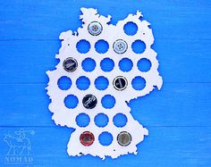 Beer Cap Map Wisconsin MINI Bottle Cap Map From Birch By NomadGift - Germany beer cap map