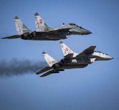 "#Repost @darazsdani  Day 20. #1115planes @kjdphoto1971 ""Dirty Pass"" Slovakian Mig-29 at Sliac AFB by militarytopics"