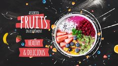Buy Fruits Slideshow by on VideoHive. Fruits Slideshow is a new delicious food template with animated fruit pics and hand drawn elements that creatively r. Menue Design, Food Graphic Design, Food Poster Design, Food Menu Design, Creative Poster Design, Web Design, Food Advertising, Advertising Design, Motion Design