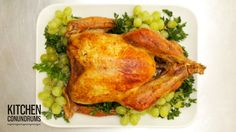 Everyone wants their turkey to be moist throughout, but that often turns out to not be the result -- by the time the legs are cooked, the breast may well hav... Tender Turkey Recipe, Upside Down Turkey, Thanksgiving Turkey, Happy Thanksgiving, Thanksgiving Recipes, Holiday Recipes, Fall Recipes, Holiday Foods, Holiday Treats