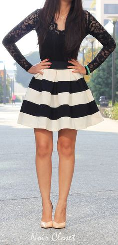 Striped skirt http://rstyle.me/n/nzgxnn2bn