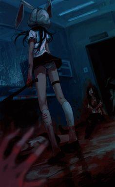 Art blood anime gif