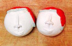 Holiday Sale! 2 Ceramic Snow Balls - free shipping