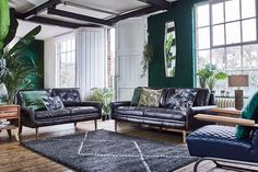 70's influence meets the spirit of nature in a multi-tonal colour palette of earthy greens. Fresh leaf print furnishings and indoor plants bring botanical life to the foreground in our Urban Jungle trend.