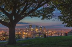 Pittsburgh skyline through the trees on the West End Overlook. Another favorite Dave DiCello Photography