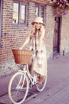 Bikes with baskets!!! this will be me soon! lol