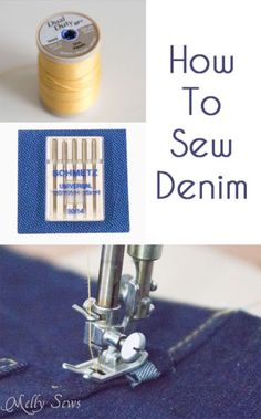 Tips to Sew Denim - Melly Sews - use upholstery thread, the right needle size, and go slow
