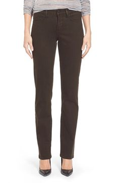 NYDJ NYDJ 'Marilyn' Straight Leg Sueded Stretch Twill Pants (Regular & Petite) available at #Nordstrom