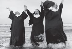 Nuns in the waves