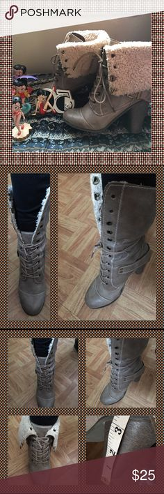 "Nine West Boots Warm interior. Fits best 8 1/2. Excellent condition. 3"" Heel Nine West Shoes Heeled Boots"