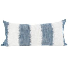 A large scale ikat style striped pillow with a global feel, perfect for your top of bed or sofa. Extra long pillow in x Cream Pillows, White Pillows, Accent Pillows, Pillow Headboard, Bed Pillows, Tribal Bedding, Long Pillow, Modern Throw Pillows, Fabric Rug