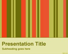 Vertical Bars with colors in a PowerPoint template #free retro PowerPoint background for presentations