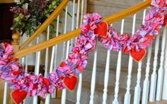Valentine Garland with  Heat Ornamentsparty by 4allseasons on Etsy