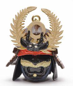 Mobile phone strap of Tokugawa Ieyasu's war helmet Tokugawa Ieyasu, Samurai, Helmet, War, Phone, Telephone, Hockey Helmet, Hard Hats, Mobile Phones