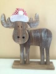 Home Carpentry Projects - Holzarbeiten Christmas Moose, Christmas Wood Crafts, Rustic Christmas, Christmas Projects, Holiday Crafts, Christmas Crafts, Christmas Decorations, Christmas Ornaments, Christmas Cooking