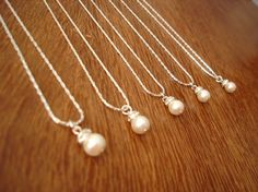 4 Bridesmaid Necklace Gifts Simple & Elegant  gift by RBJohnson, $52.00