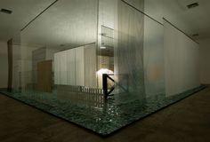 Cildo Meireles, Através, 1938-1989, materiais diversos, 600 x 1500 x 1500 cm, foto: Pedro Motta
