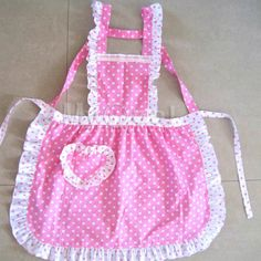 Women Lady Princess Polka Cooking Kitchen Work Catering Apron Dress With Pocket . Toddler Apron, Kids Apron, Princess Aprons, Baking Apron, Childrens Aprons, Cute Aprons, Aprons Vintage, Retro Apron, Sewing Aprons